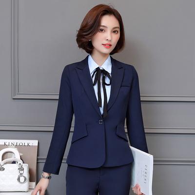 职业装女装套装女士时尚面试正装女OL西服工作服韩版休闲商务西装