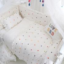 爱予定制床单套件水洗棉婴儿童宝宝床围套件防撞被套枕套床上用品