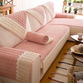 沙发垫布艺田园生活防滑坐垫灰色老粗布防水三人座纯色1四季通用