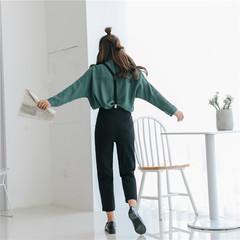 时尚女式背带裤
