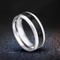 戒指男士日韩版潮人个性霸气纤维食指环装饰时尚学生刻字钛钢戒子