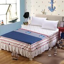 休G闲的全棉儿童床罩床裙单件纯棉卡通简约地中海风格1.2米1.5m床