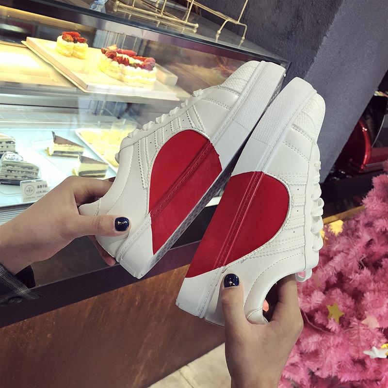 爱心百搭平底鞋