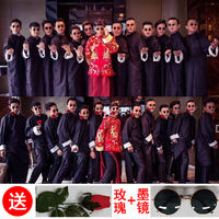 Chinese wedding dresses, groomsmen, men's gowns, robes, big bangs, Tang costumes, comics, brotherhood, gowns