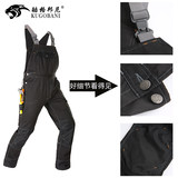 Workwear strap pants men's work clothes wear-resistant jumpsuit repair work to protect the uniform loose straight cylinder sling reflective strip pants