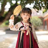 The original original improved Hanfu girls wear falling flowers fairy chest dress Chinese style baby dress summer models parent-child