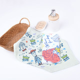 Mermaid three-eyed gauze cotton cartoon towel four small towel small square towel cotton absorbwater soft