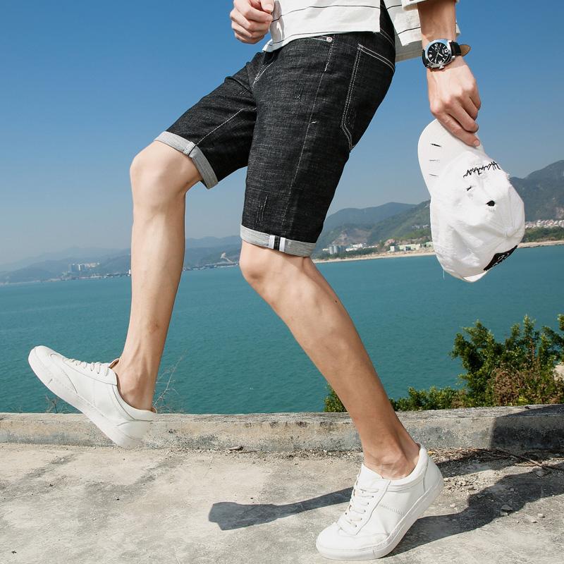 牛仔沙滩裤子