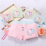 Girls Baby 1-3 Triangle Flat Corner Cotton Underwear Children 5-7 Girls Student Girls 9-11 Girls Cotton Shorts
