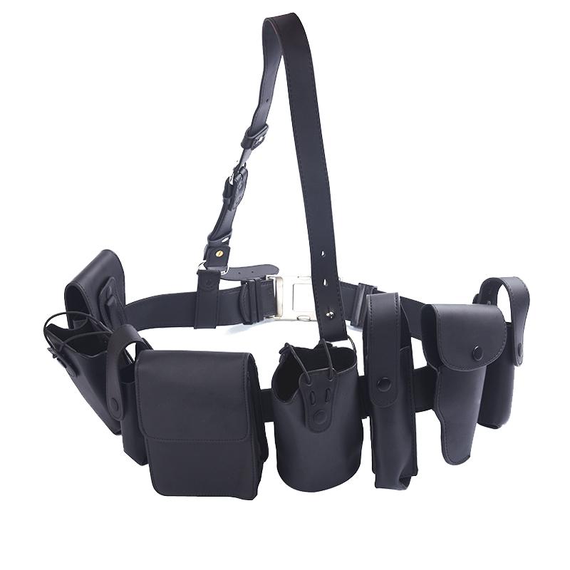 战术腰带多功能男 特种兵户外 保安作训腰带装备武装执勤腰带黑色