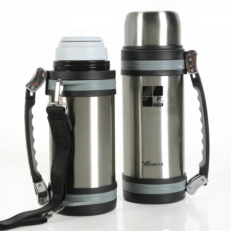 大容量保温壶2L户外旅行车载水壶便携带背带家用超长保温热水瓶
