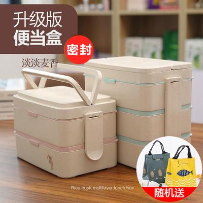 学生带盖两三多层可微波炉上班食堂简约日式分格便当韩国保温饭盒新款推荐