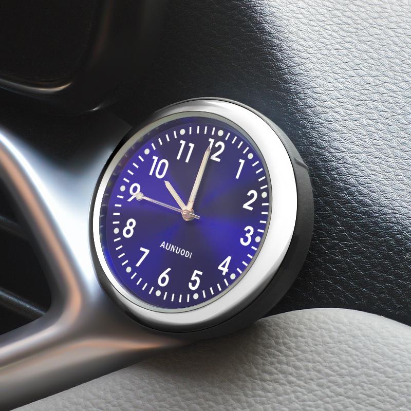 夜光车载钟表车用温度计数字高精度车内数显时间表钟电子钟石英表
