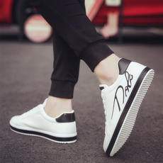 2018 summer new white shoes men's shoes casual Korean version of the trend of white shoes wild tide shoes autumn men's shoes