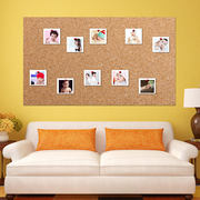 Liquan 8MM color adhesive rubber cork photo wall background wall cork wall bulletin board message board customization
