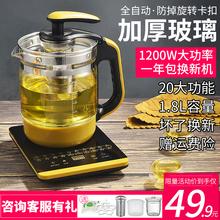 养生壶全自动加厚玻璃电煮茶壶迷你多功能花茶黑茶煮茶器热烧水壶