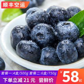 顺丰空运国产蓝莓中果蓝莓鲜果国产蓝莓孕妇蓝梅新鲜水果4盒6盒装