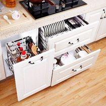 不锈钢拉篮阻尼厨房橱柜碗架厨柜调味篮架碗碟碗篮置物架304意驰