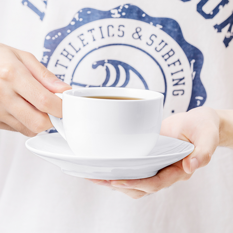 MINISO/名创优品 山雪咖啡杯碟欧式小奢华套装随手杯陶瓷简约套具