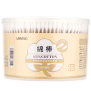 MINISO/ 名创优品 Wooden sticks with two cotton swabs 500 pointed + gourd head cotton swabs