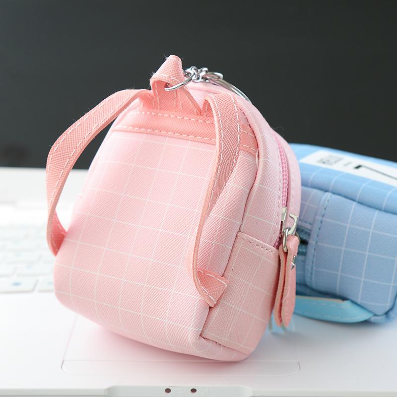 韩国可爱钥匙包学生零钱包迷你小书包钥匙扣挂件女士钱包硬币包