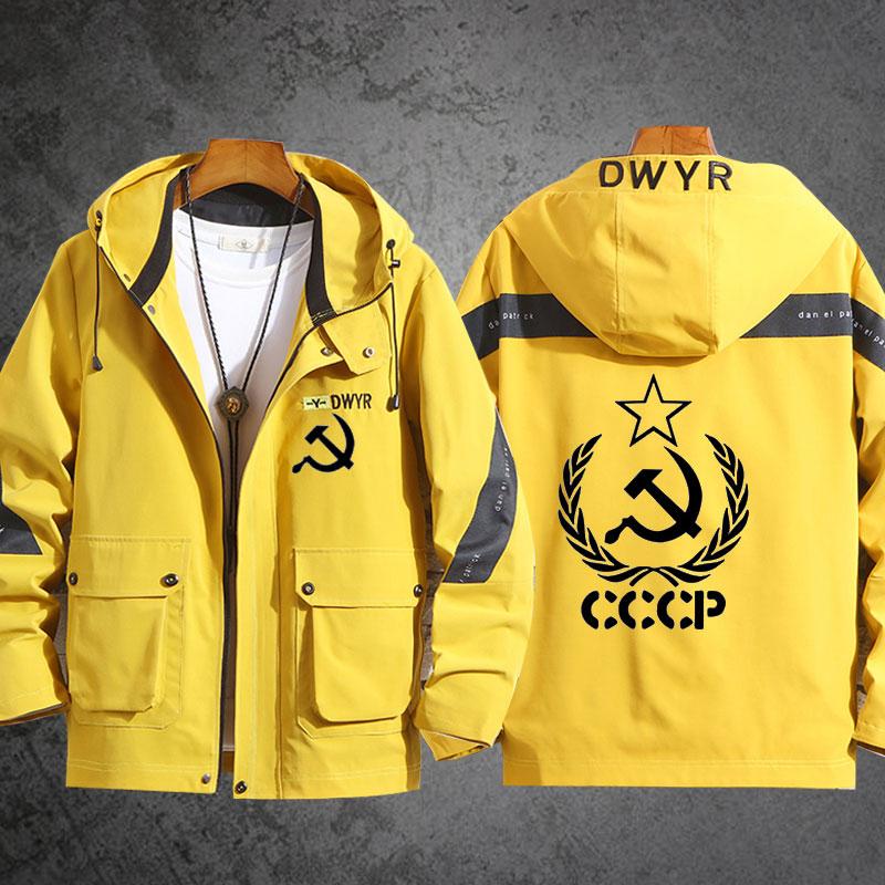 共产主义苏联男女学生连帽夹克宽松潮流舒适休闲时尚衣服外套