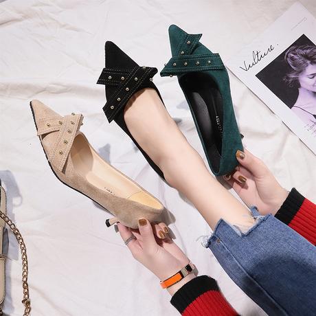 春秋季2019新款百搭小清新网红高跟鞋女细跟少女小跟猫跟5cm单鞋商品大图