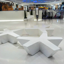 Creative Pentagonal Star-shaped Fashion Resting Bench Waiting Chair in Public Area