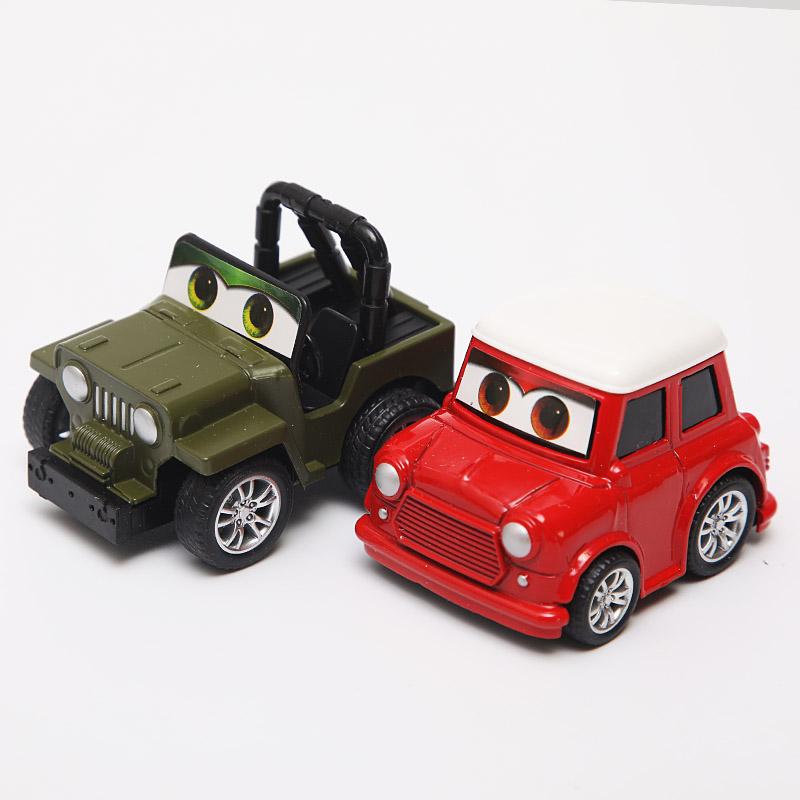时尚小轿车子迷你汽车摆件复古车载模型个性中控摆件回力车装饰