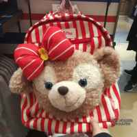 Wu Hao with the Disney purchase star 黛 双 双 shoulder bag Duffy bear student bag Xue Li rose canvas backpack bag