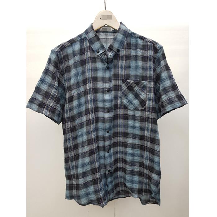 韩国代购男装实拍东大门混色格纹短袖衬衫潮搭学院风夏季衬衣新品