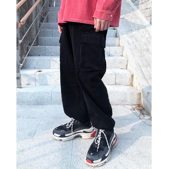 东大门韩国代购男装实拍纯色抽绳收脚直筒裤宽松松紧腰休闲长裤子
