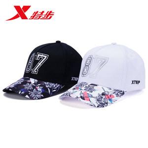 特步帽子男女鸭舌帽2018夏季新款休闲棒球帽运动帽旅游户外防晒帽