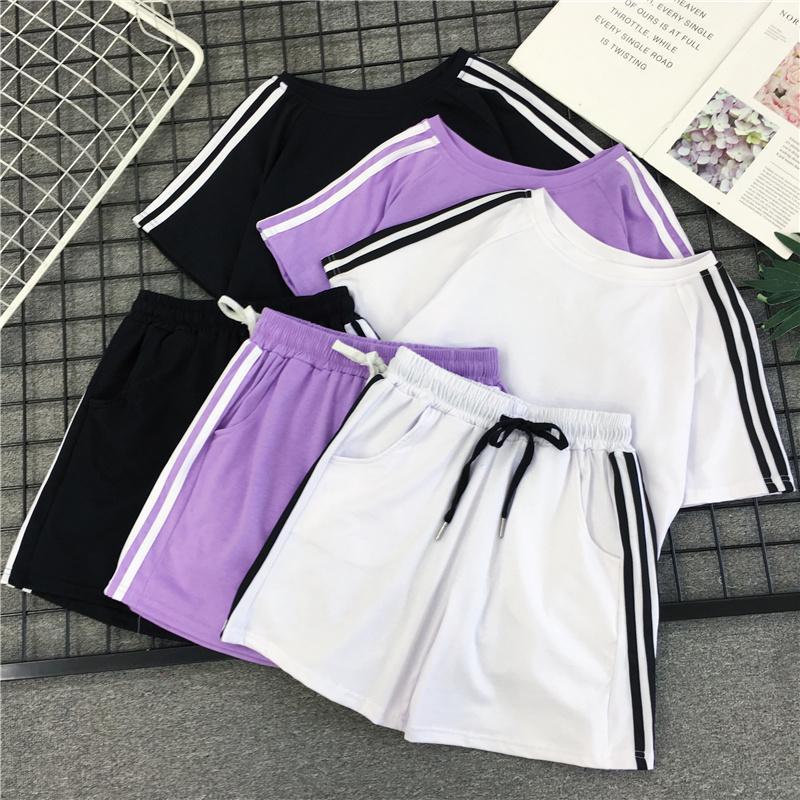 韩版运动服女夏装