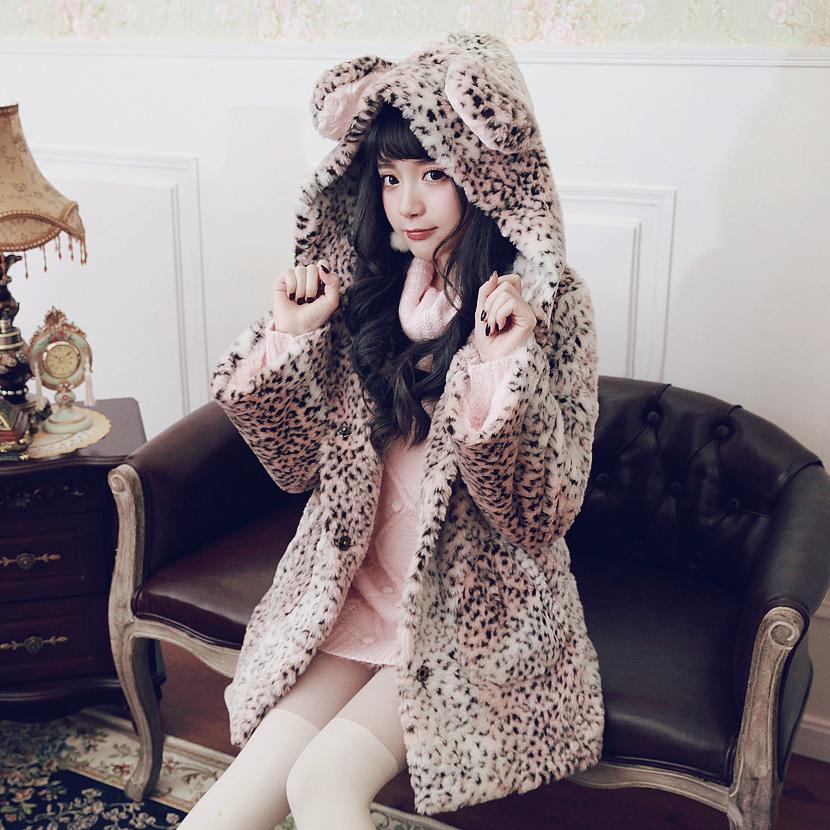 豹纹短大衣