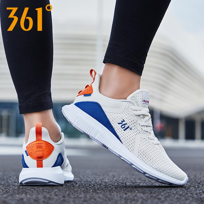 361运动鞋男鞋2019夏季新款正品透气休闲鞋361度轻便网面跑步鞋男
