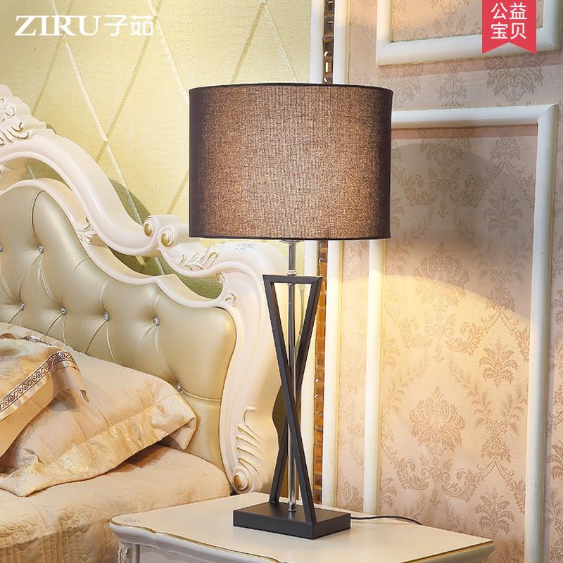 床头柜台灯卧室温馨简约现代北欧创意个性美式客厅酒店装饰大台灯3元优惠券
