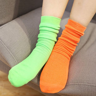 5 Candy Colors Fashion Women Socks Cotton Bland Fantacy Amaz