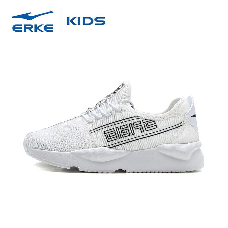 鸿星尔克男童鞋子网面透气跑步鞋夏季2019新款儿童透气轻便运动鞋
