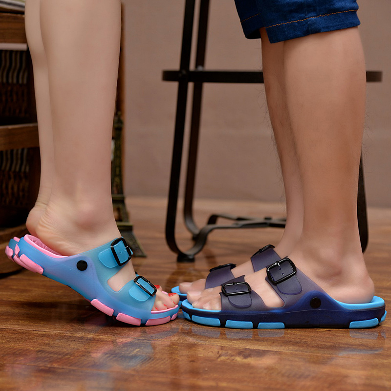 男拖鞋男士凉拖鞋夏季一字拖鞋时尚沙滩鞋浴室内外穿防滑洞洞鞋潮