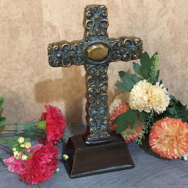 欧式基督教礼品教堂用品结婚礼物树脂摆件装饰品天主教耶稣十字架