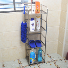 Pure stainless steel European toilet shelf, floor bathroom shelf, towel shelf, three or four storey shelf