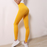 Nine wheat one product peach hip fitness pants female high waist tight stretch yoga pants quick-drying sports trousers hip pants