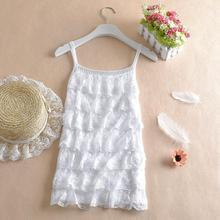 针织背心 成都2017年春夏女式层层蕾丝花边蛋糕层7层蕾丝吊带衫