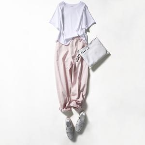 ^@^戎美【TX0503207】时髦的微廓型 干爽强捻型 圆领连袖上衣