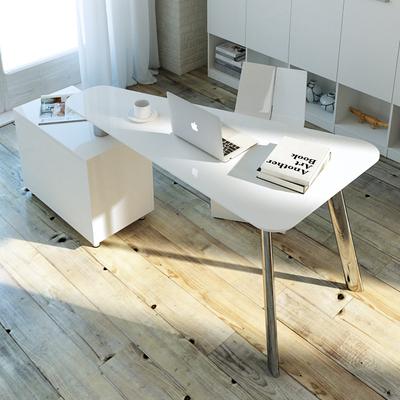 转角电脑桌烤漆简约现代家用书台时尚旋转创意书桌书房台式办公桌品牌排行