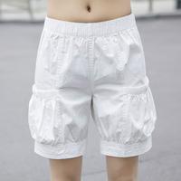 夏款纯棉五分裤女宽松夏季灯笼裤松紧腰胖MM大码短裤运动沙滩热裤