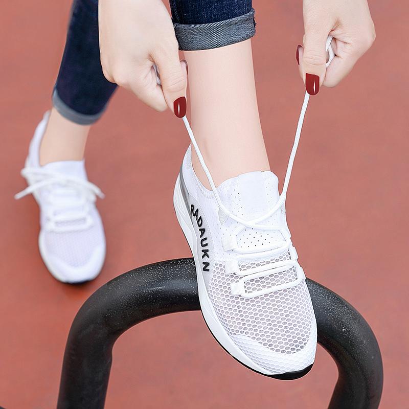韩版夏天网面透气运动鞋2018新款秋季百搭旅游跑步网鞋休闲女鞋子