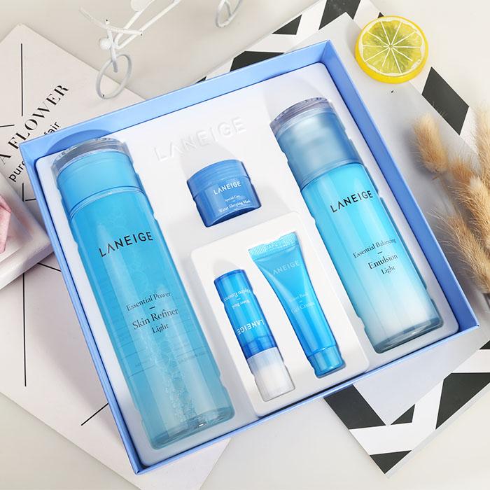 韩国LANEIGE兰芝水乳套装清爽型 两件套滋润型套盒补水保湿正品