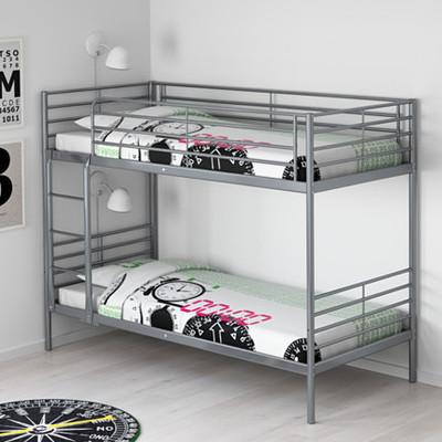 44.0温馨宜家IKEA斯沃塔双层床架儿童床上下铺铁艺学生高低床品牌旗舰店